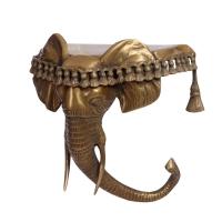 Голова слона декоративная полка на стену