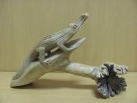 Крокодил на коряге