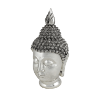 Голова Будды 32 см под серебро