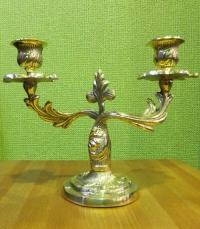 Подсвечник на 2 свечи(полиш)