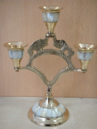 Подсвечник на 3 свечи с перламутром