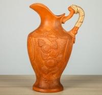 Глиняный кувшин с рисунком, 2л